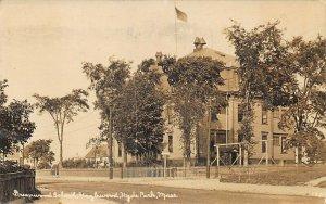 Hyde Park MA Greenwood School Hazelwood Real Photo Postcard