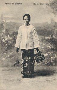 Indonesia Batavia Native Girl 06.69