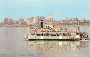 TN, Memphis, Tennessee, Downtown, The Memphis Queen II Excursion Boat