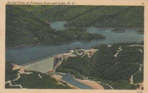 Aerial View of Fontana Dam and Lake, NORTH CAROLINA, 1930-40s