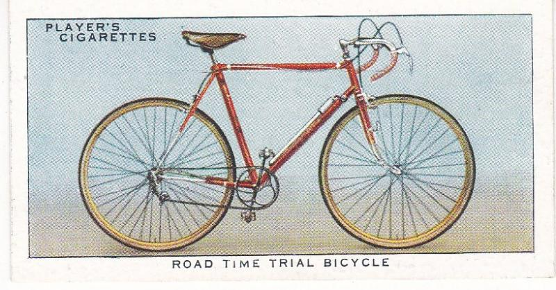 Cigarette Cards Players CYCLING No 37 Road Time Trial Bicycle
