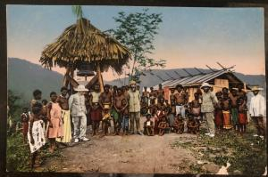 Mint New Guinea Picture Postcard PPC Bell Of Kela German Mission