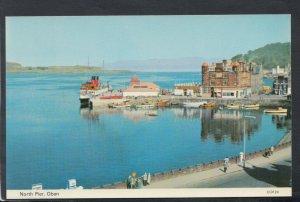 Scotland Postcard - North Pier, Oban   T7182