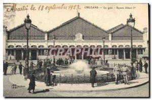 Old Postcard Orleans Square Station Albert I
