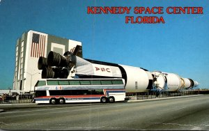 Florida Kennedy Space Center Saturn V Rocket On Display Near Vehicle Assembly...