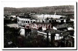 Old Postcard Nimes Gard General view and Roman Arenes