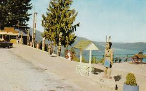 Indian Totem Poles , Malahat Chalet , Vancouver Island , B.C. , Canada , 40-60s
