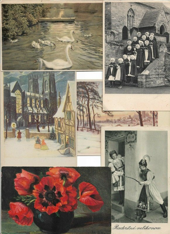 Theme Postcards Art People Flowers And More Postcard Lot of 46 - 01.05