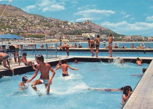 Algiers Algeria The White El Kettani Hotel Swimming Pool Postcard