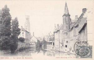 Belgium Bruges Le Quai du Rosaire 1904