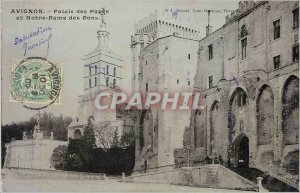Postcard Old Avignon Palace of the Popes and Our Lady of Donations