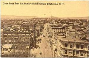 Aerial View of Court Street from Security Mutual Building, Binghamton, New Yo...