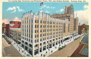 W/B Union Bus Terminal & Pickwick Hotel Kansas City Missouri