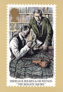 Sherlock Holmes The Reigate Squire Book Limited Edition Postcard