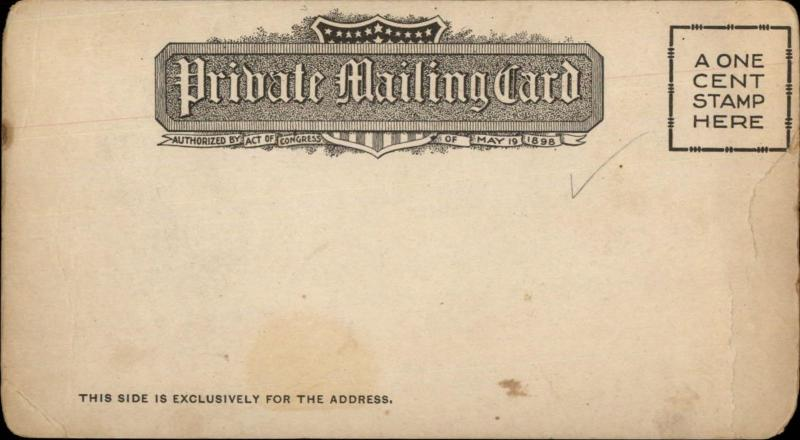 Atlantic City NJ Heinz Pier 1900 3.33x6.5 Inches Private Mailing Card