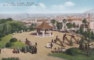 Childrens Slides Nogeyama Park Yokohama Japan Japanese Old Postcard