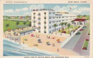 Florida Miami Beach Hotel Normandie & Cabana Club 1942 Curteich sk5955