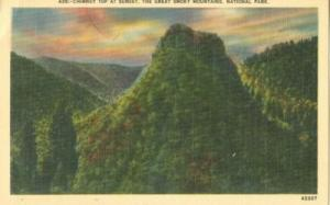 Chimney top at Sunset, The Great Smoky Mountains, Nationa...