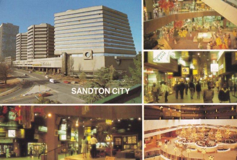 Sandton City Johannesburg South Africa Shopping Centre 1980s Postcard