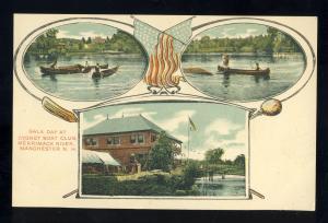 Manchester, New Hampshire/NH Postcard, Gala Day At Cygnet Boat Club, 1906