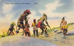 Indian Post Card Hoop Dance Santa Fe, New Mexico, USA Unused