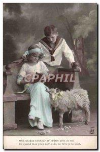 Old Postcard Goat Kids