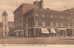 REGINA , Saskatchewan , 1910 ; Temple Building , Darke Block & Post Office