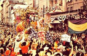 New Orleans LA Mardi Gras Parade Wine Festival Postcard