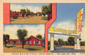 Salt Lake City Utah Motor Park Multiview Antique Postcard K104405