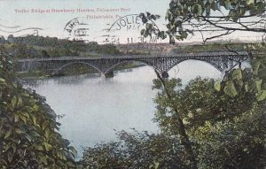 Pennsylvania Philadelphia Trolley Bridge At Strawberry Mansion Fairmount Park...