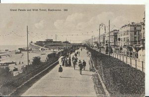 Sussex Postcard - Eastbourne - Grand Parade & Wish Tower - Sussex - Ref 8090A