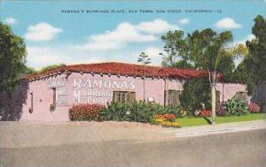 California San Diego Ramonas Marriage Place Old Town