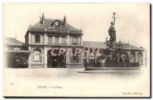Vichy - La Gare - Old Postcard