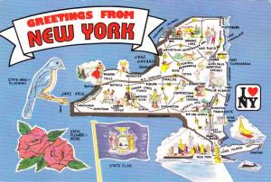 Greetings From New York and Map