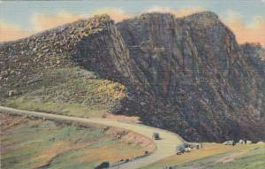 Colorado Pikes Peak Auto Highway At The Bottomless Pit Curteich