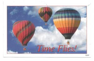 Dental Advertising Postcard Time Flies Hot Air Balloons