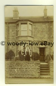 tp8050 - Unknown Location - Lady outside a Terraced Home, c1912 - Postcard