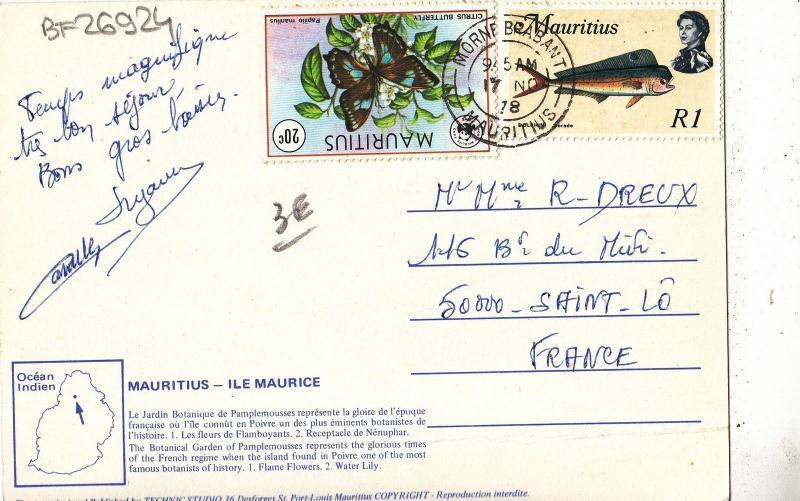 BF26924 mauritius ile maurice   front/back image