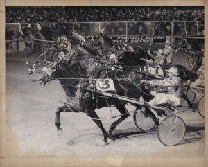 ROOSEVELT Raceway, Harness Horse Race, LOOKOUT CLAY Wins Race, 1972