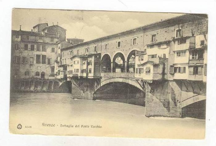 Firenze, Italy, Dettaglio del Ponte Vecchio, PU-1908