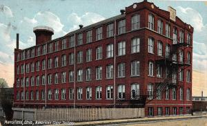 F36/ Mansfield Ohio Postcard 1910 American Cigar Factory Occupational