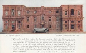 Titania's Palace , UK, 1900-10s ; Northern Facade ; TUCK 4521