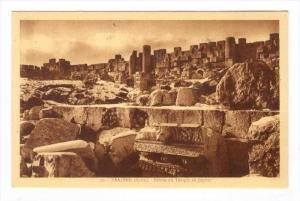 BAALBEK (Syrie now Lebanon), 1910s : Debris du Temple de Jupiter