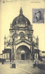 Eglise Sainte Marie Bruxelles, Belgium Stamp on back