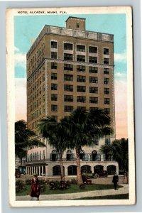 Miami, FL-Florida, Hotel Alcazar, Advertising, Vintage Postcard