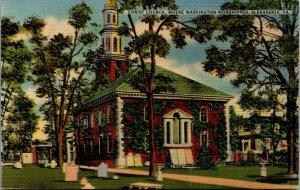 Christ Church, Where Washington Worshipped, Alexandria V.A. vtg Postcard