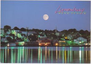 MOON OVER LUNENBURG, NOVA SCOTIA