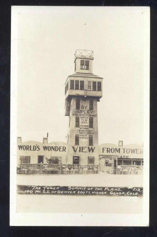 RPPC GENOA COLORADO THE RIPLEY TOWER ROADSIDE STORE REAL PHOTO POSTCARD