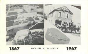 Rock Falls Illinois~1889 Fire Department~1891 Mail~1867 - 1967 Cenntennial PC