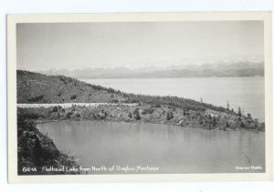 RPPC of Flathead Lake from North of Dayton Montana MT